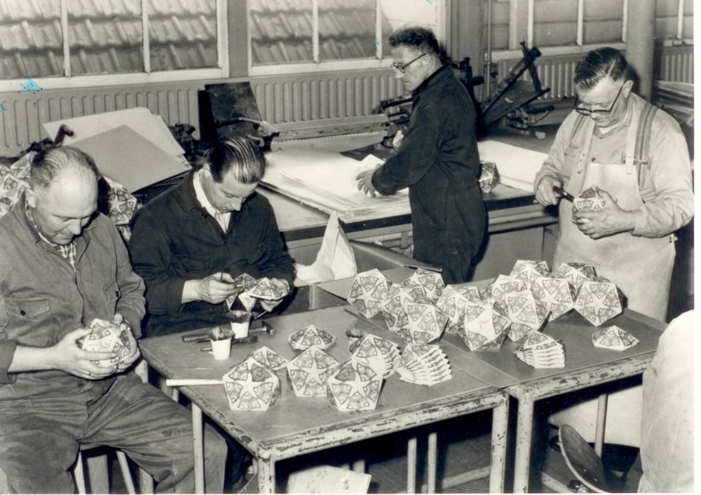 Tijdens de productie van de blikken in Krommenie