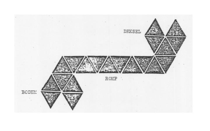 voorbeeld van het schema van de blikken uit de brief