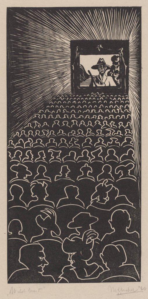 M.C. Escher, Wilde Westen, houtsnede, 1920