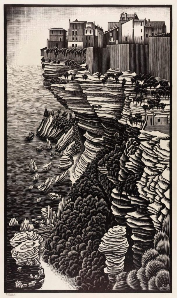 M.C. Escher, Bonifacio, houtsnede, oktober 1928