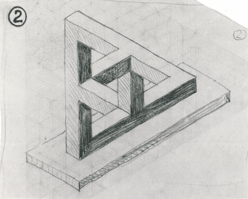 Scan uit De werelden van M.C.Escher van Waterval