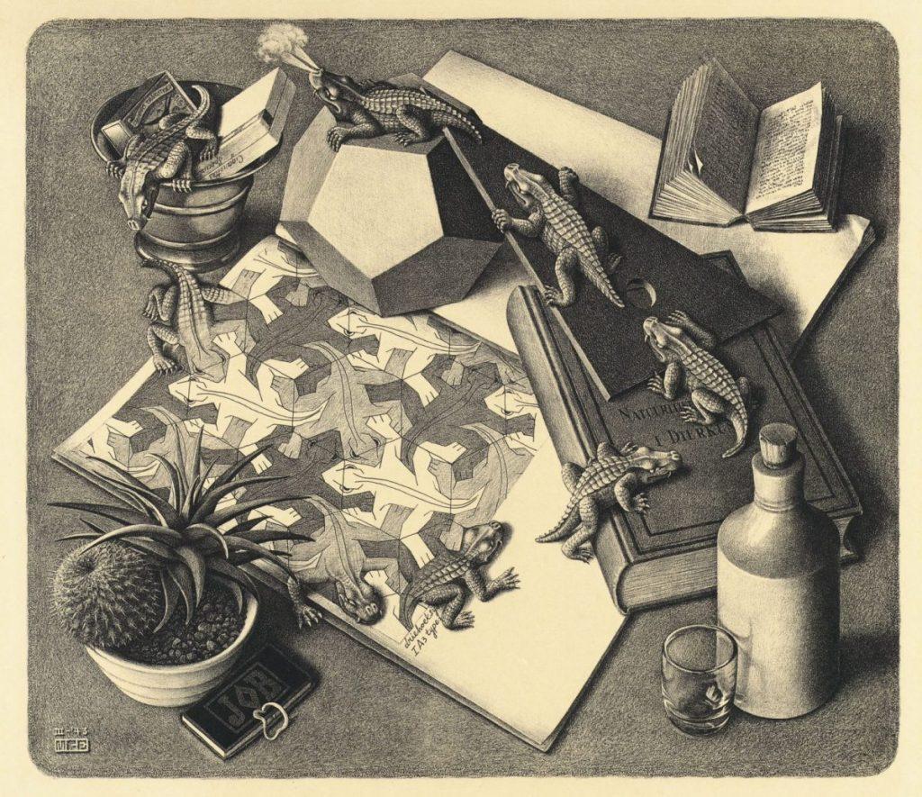 M.C. Escher, Reptielen, litho, maart 1943
