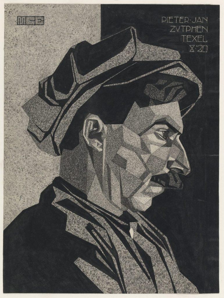 M.C. Escher, Pieter Jan Zutphen, ink on paper, 1920
