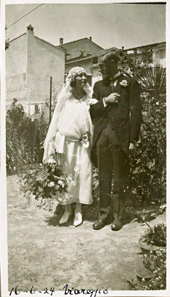 Trouwfoto, Viareggio, 12 juni 1924