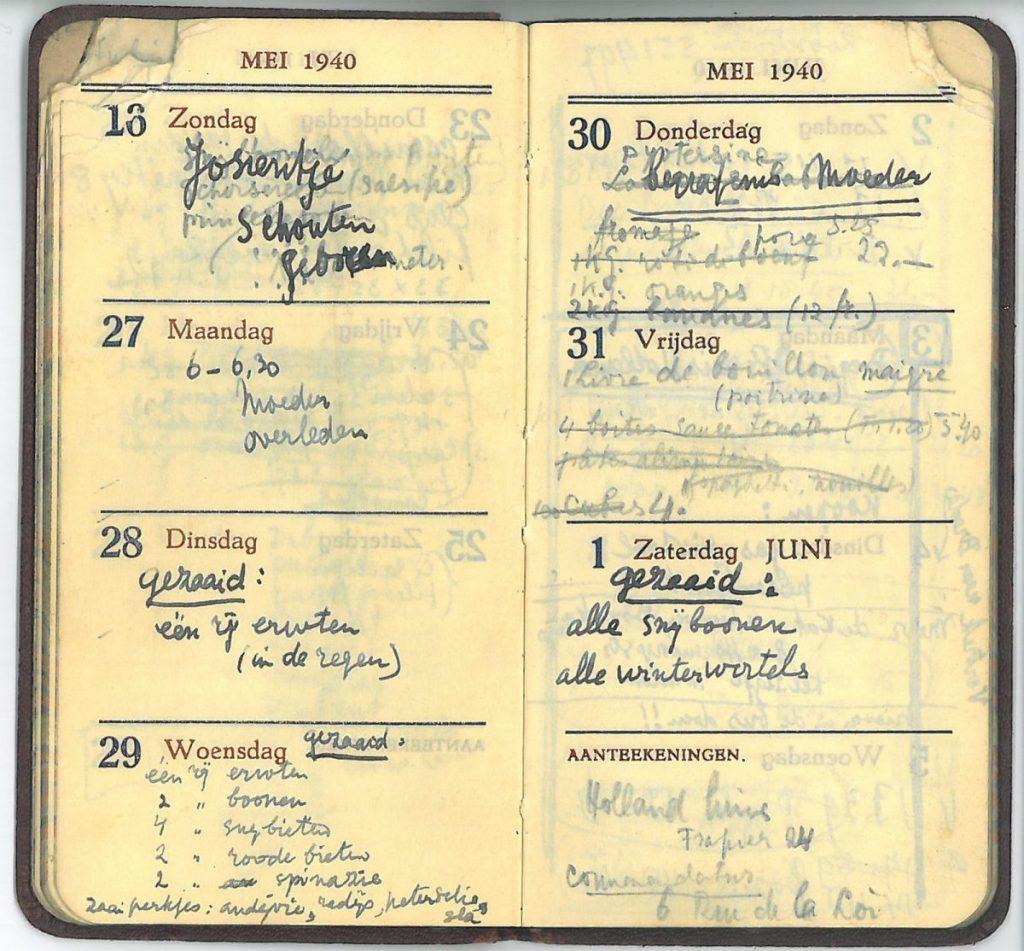 Diary, 1940, 26 may - 1 june