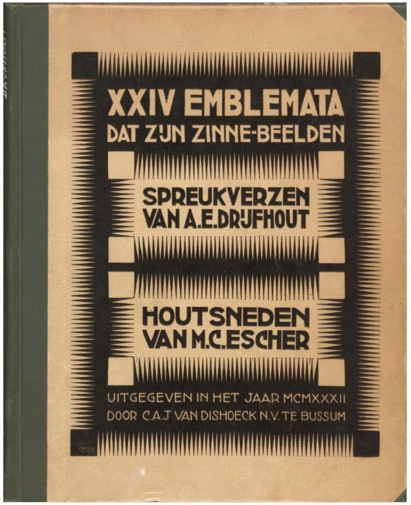 Emblemata, cover, woodcut, 1931
