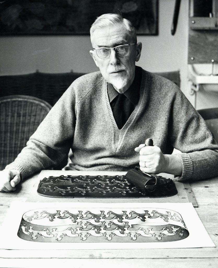 Escher maakt een herdruk van Ruiter