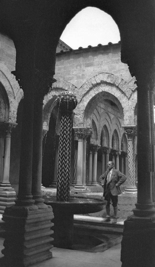 Giuseppe Haas-Triverio in the cloister of Monreale, 19 May 1932