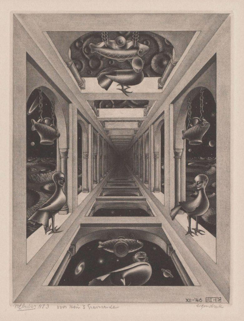 M.C. Escher, Galerij, mezzotint, december 1946