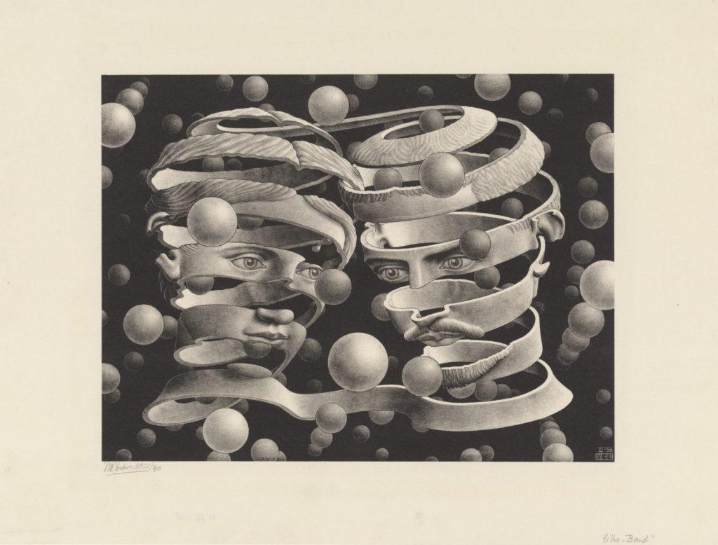 M.C. Escher, Band, litho, april 1956