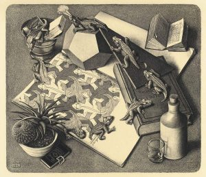 M.C. Escher, Reptiles, lithography, March 1943