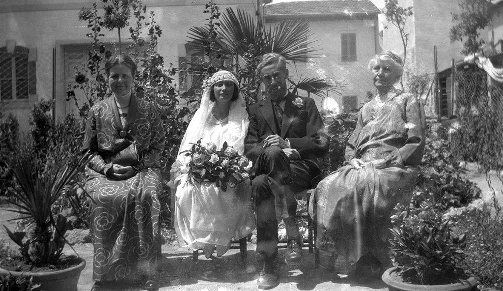 Huwelijk in Viareggio, 16 juni 1924