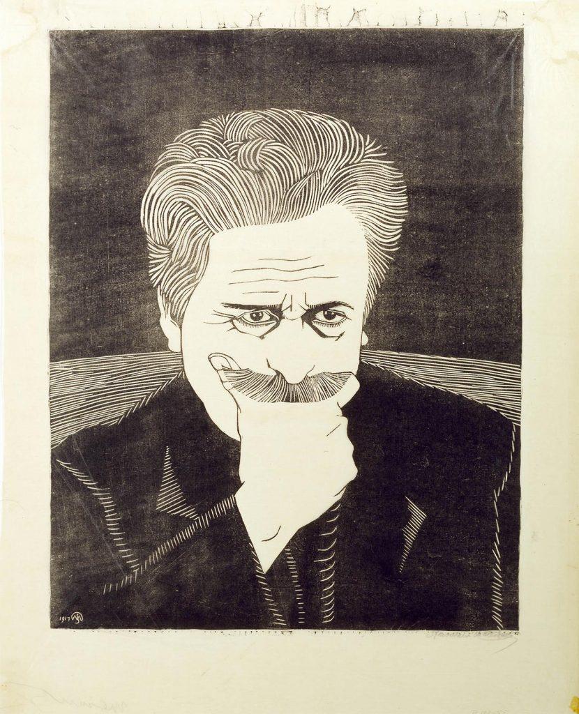 Samuel Jessurun de Mesquita, self-portrait, 1917