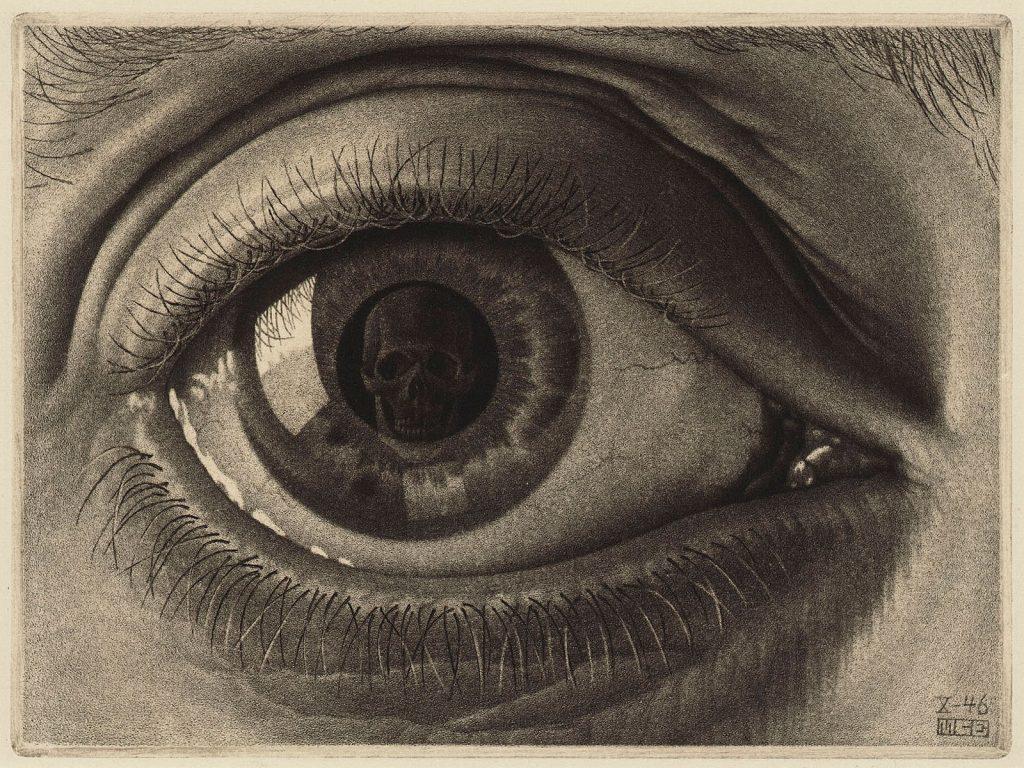 M.C. Escher, Eye, mezzotint, seventh and final state, October 1946