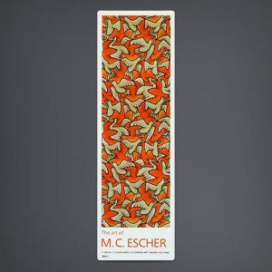"""Birds"" Bookmark (Orange / Grey)"
