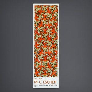 """""""Birds"""" Bookmark (Orange / Grey)"""