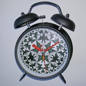 Alarm Clock with Angels and Devils