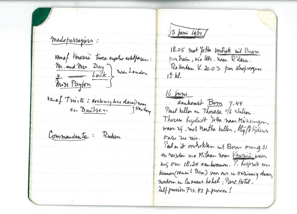 Travel journal 1961, page 8
