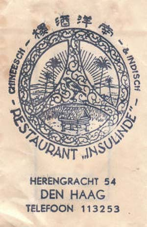 Sachet of sugar with the Insulinde emblem by Escher