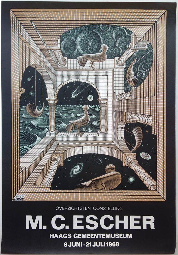 Poster voor de overzichtstentoonstelling in het Gemeentemuseum in 1968