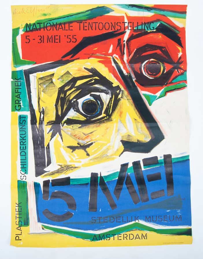 Poster for the exhibition, by Dick Elffers