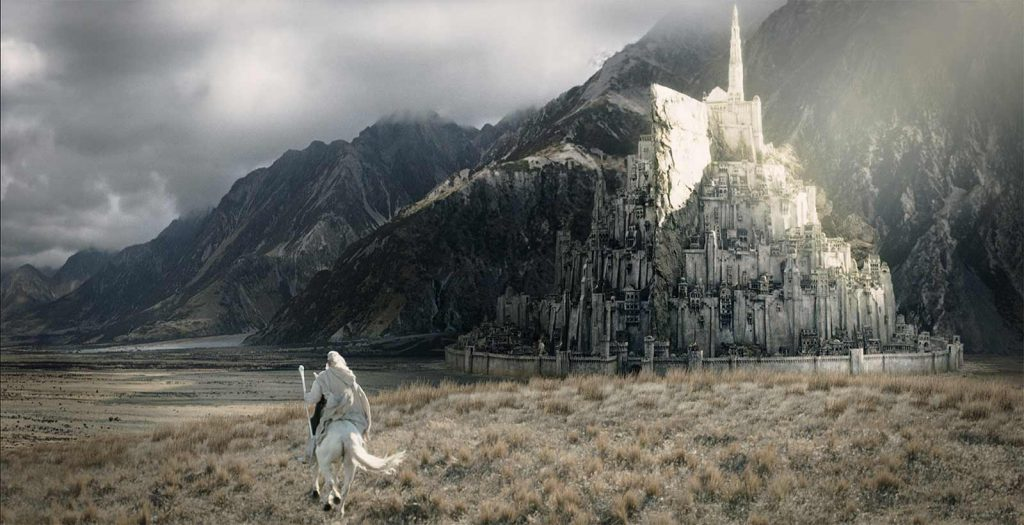 Minas Tirith, as depicted in Peter Jackson's version of The Lord of the Rings