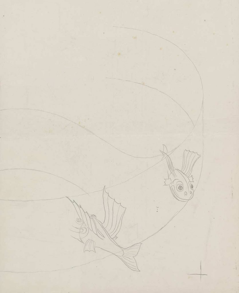 Study for Predestination, pencil on paper, 1950
