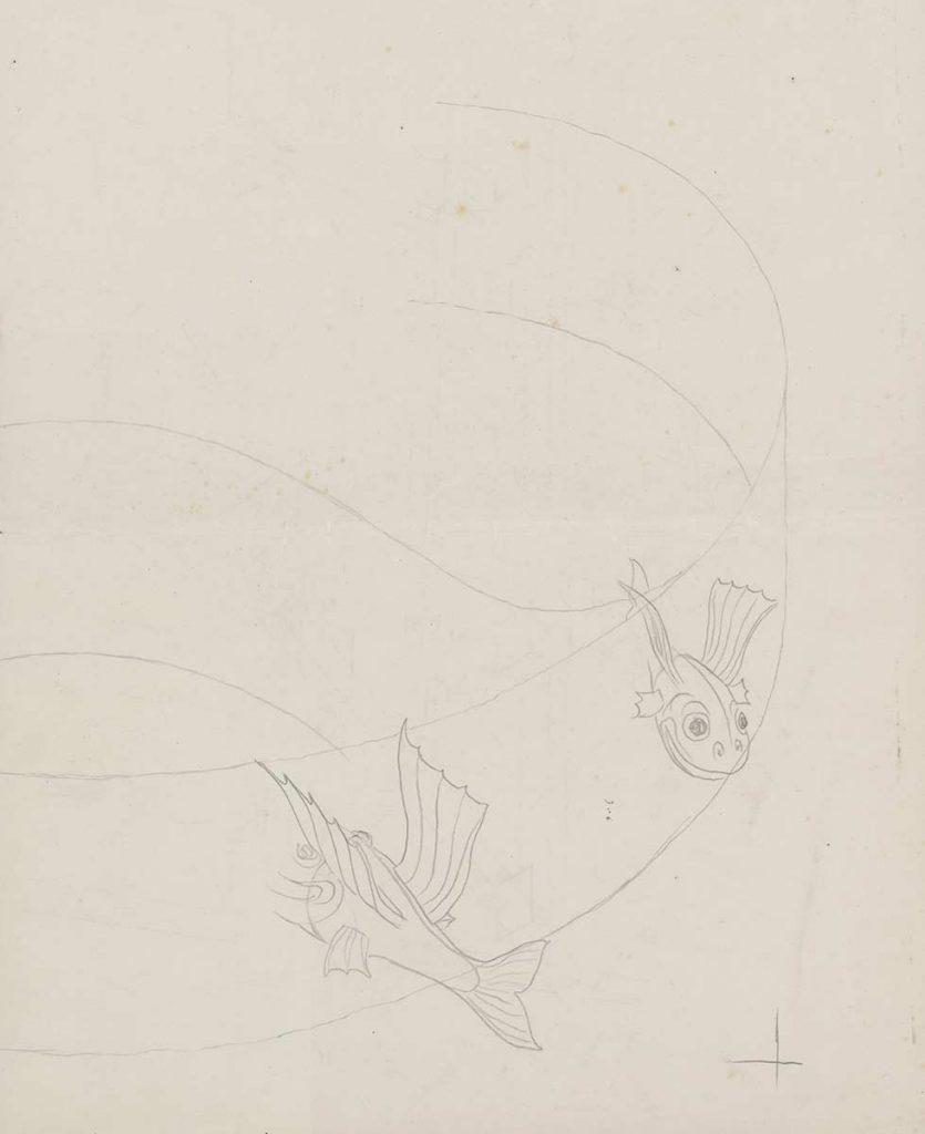 Studie voor Predestinatie, potlood op papier, 1950