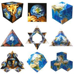 Geobender World, Magnetische 3D puzzle, €29,95