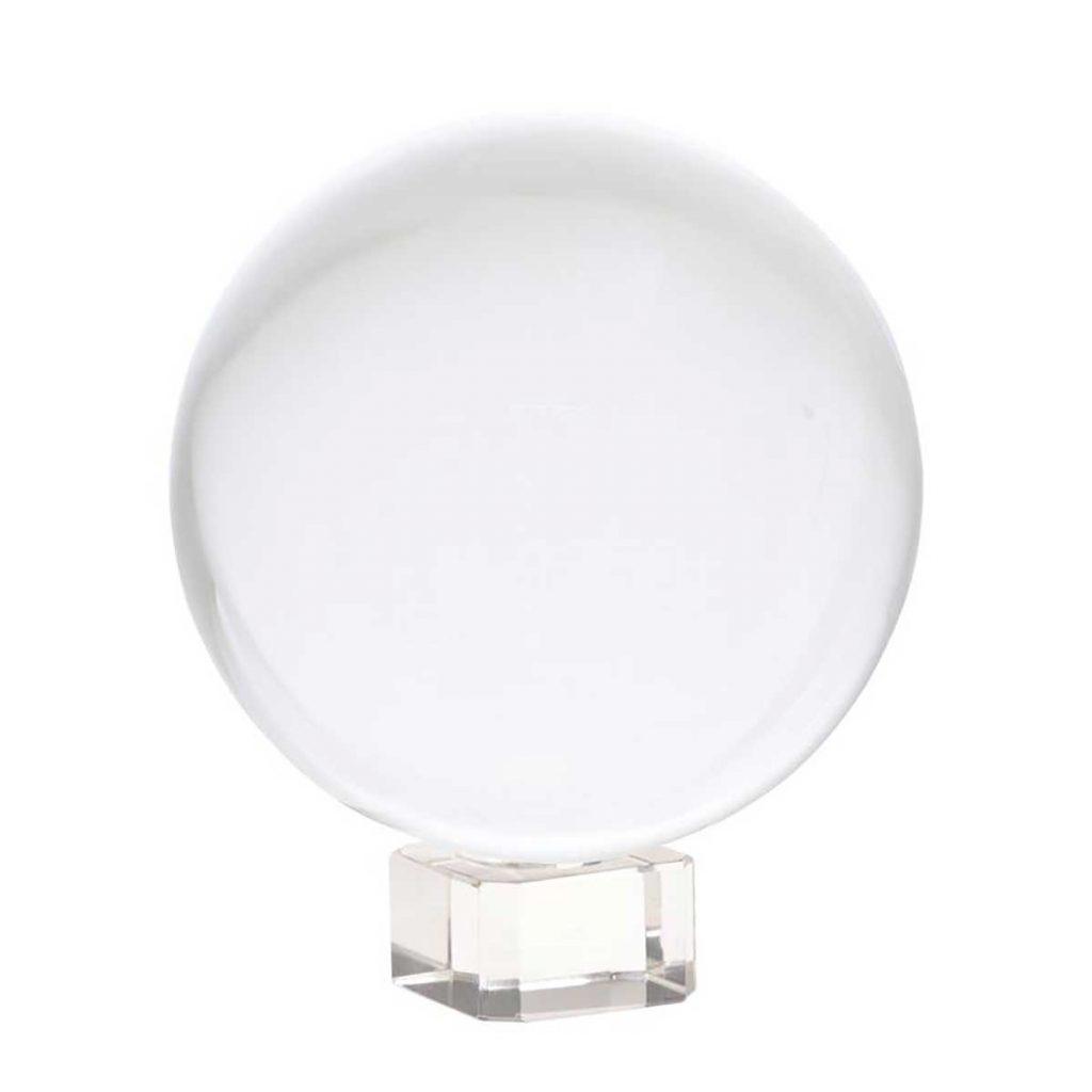 Kristallen bol op voetje 80 mm, €22,50