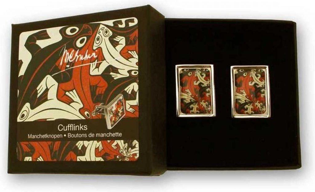 M.C. Escher Manchetknopen Reptielen, €18,95