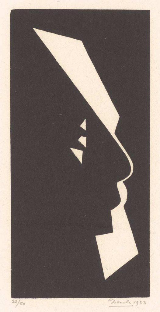 César Domela, Portrait de mon père, houtsnede, 1923. Collectie Kunstmuseum Den Haag